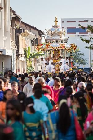 devotee: Georgetown, Penang, Malaysia  January 23, 2016 : Hindu devotee taking part in the Thaipusam festival on January 23, 2016 in Malaysia. Hindu festival to worship God Muruga.