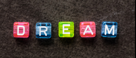 letterbox: DREAM word concept , letterbox format, top view Stock Photo