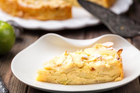 Slice of Homemade Organic Apple Pie Dessert Ready to Eat