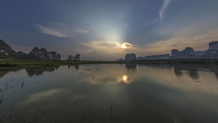 tang: Mao Tang wetland sunset
