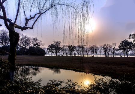lake sunset: West Lake sunset