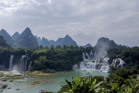water falls: Detian water Falls scenery Stock Photo