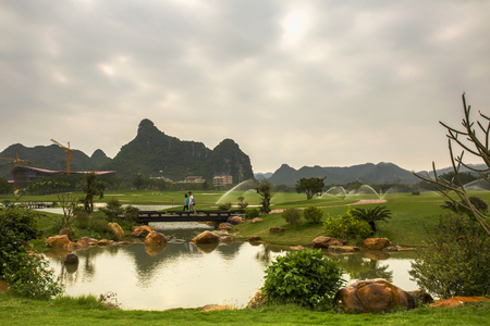 Huashan National Park scenery at China.