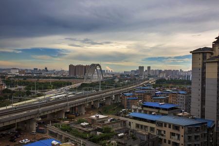 afterglow: Sunset of Yonghe Bridge, Nanning
