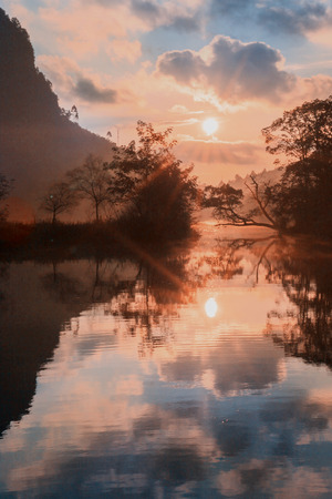 Debao little west Lake under Sunrise