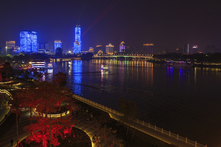 Lijiang river night view