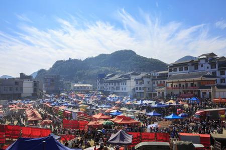 village market in the morning Editorial