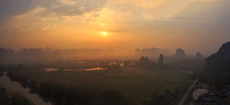 Sanli yangdu Sunrise scene Foto de archivo