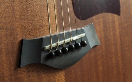 guitar acoustic bridge Banco de Imagens