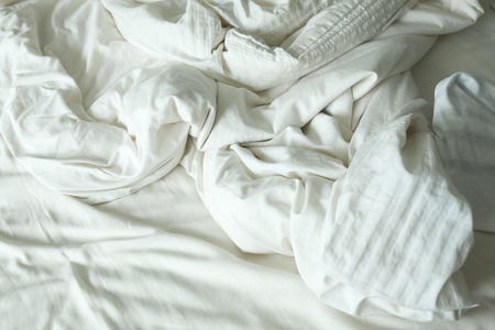 messy: bed messy Stock Photo