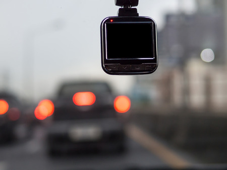 dash: car camera for safety on the road Stock Photo