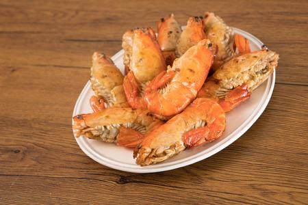 grilled river prawn seafood 免版税图像