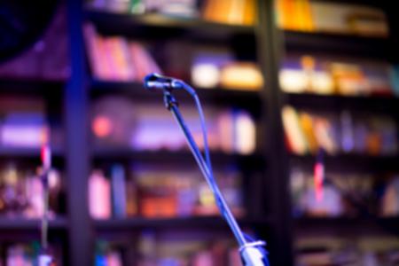 music nightclub livehouse instrument environment blur background Stock Photo