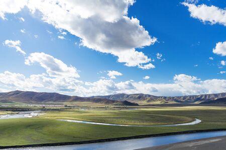 Moon Bay Scenic Spot, Aba Prefecture, Sichuan, China
