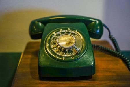 Vintage pulsator roulette phone Standard-Bild