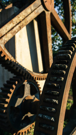 watermill: Old brown Watermill with Rust