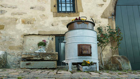fireplaces: Stove with Flowers