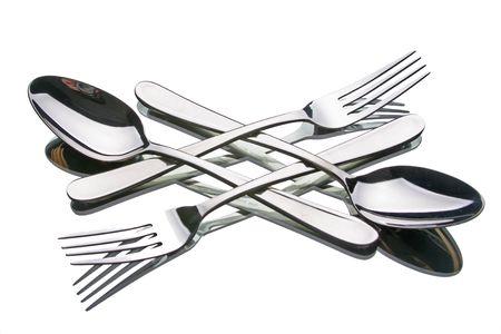fork & spoon in diamond arrangement