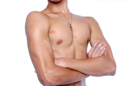 bod: Male chest close up Stock Photo