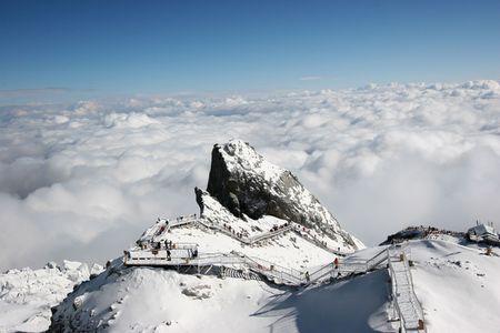 Jade Dragon Snowy Mountain in Lijiang, Yunnan, China
