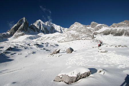 Jade Dragon Snowy Mountain in Lijiang, Yunnan Province, China Stock Photo