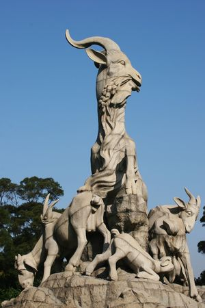 The Symbol of Guangzhou City - Five-Goat Statue, China