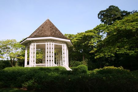 bandstand: Bandstand in Singapore Bontanical Garden Stock Photo