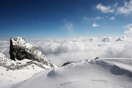 Jade Dragon Snowy Mountain in Lijiang, Yunnan province, China