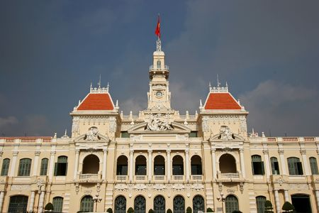 committee: The peoples committee building in Saigon, Vietnam Stock Photo
