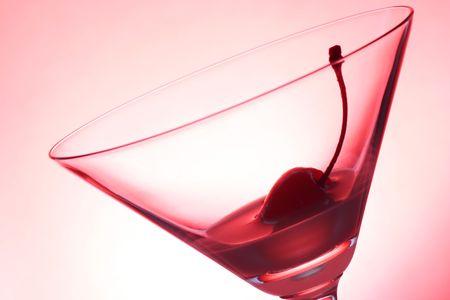 Cherry and Glass Stock Photo