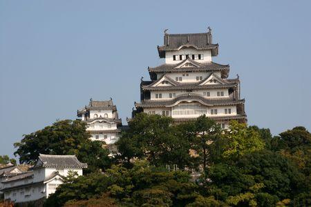donjon: Himeji castle in the old city of Himeji, Japan Editorial