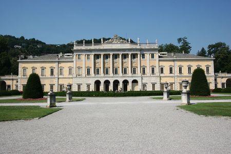 Villa Olmo in Como town, Italy Stock Photo