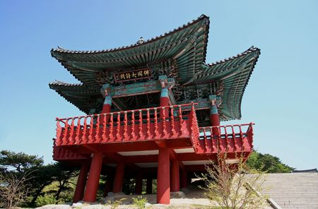bulguksa temple bell pavilion in gyeongju, south korea