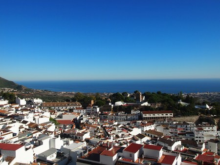 Famous holiday destination coastal town of Mijas in Spain