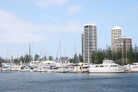 gold coast australia: South Port marina in Gold Coast, Australia