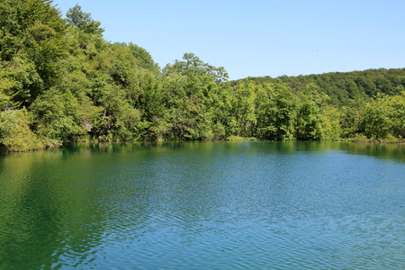 One of the upper lakes of Plitvice National Park, Croatia