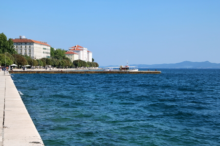 Waterfront of Zadar, facing the Adriatic Sea, Croatia