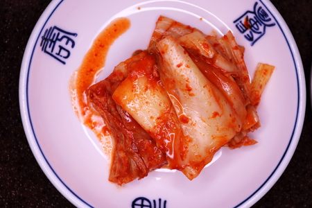 Kimchi, a famous Korean side dish which is a must eat for Koreans Stock Photo