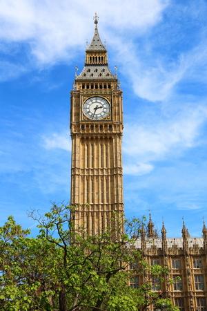 North side of Big Ben and Elizebeth Tower, London, United Kingdom 스톡 콘텐츠