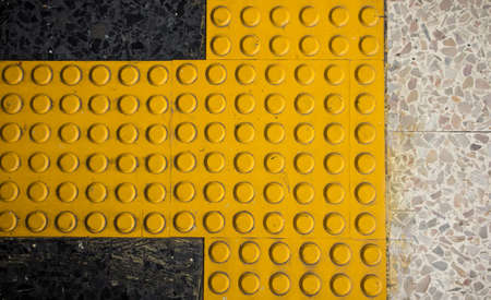 Braille block, Tactile paving for blind handicap Stock Photo