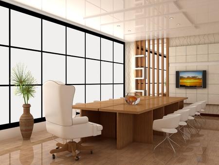 comercial: Un interior de la cabina de trabajo est� en una oficina