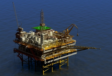 Dabycha oil into the sea from above. photo
