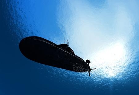 De militaire schip in de zee