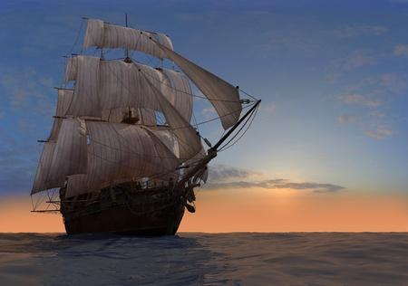 merchant: The ship sails at sea