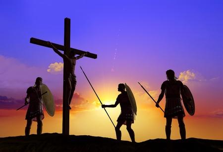 cruz de jesus: Sileet guerrero sobre el Jesús crucificado