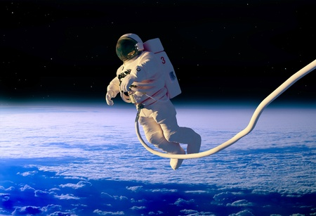 The astronaut  in outer space photo