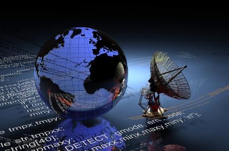 digital globe: Models of radar and the globe.