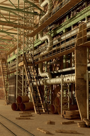 The interior of the plant. Stock Photo - 20118943