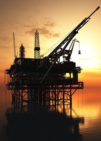 torre de perforacion petrolera: La producción de petróleo en el mar