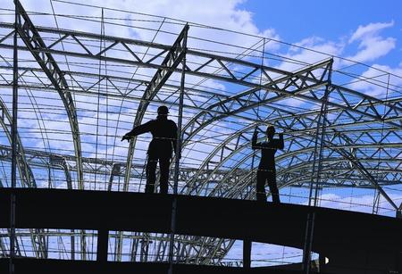 materiales de construccion: Clase de un edificio en un fondo del cielo